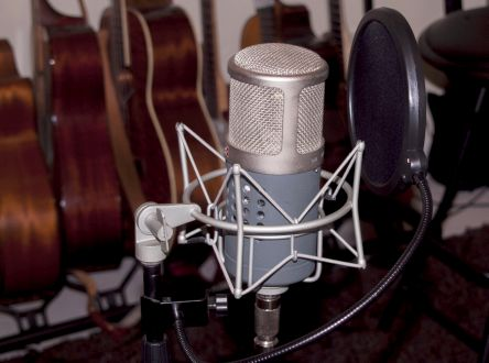 Safety Zone Studios recording mic